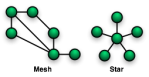 Mesh and Star-Shaped Networks